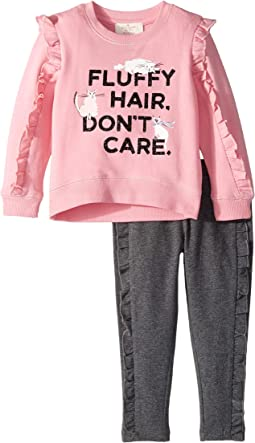 Fluffy Hair Leggings Set (Toddler/Little Kids)