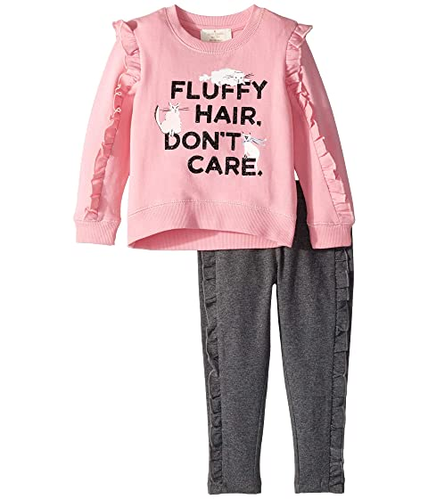 Kate Spade New York Kids Fluffy Hair Leggings Set (Toddler/Little Kids)
