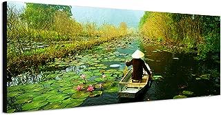 Cadre en Bois Fajerminart 3 Panneau Claude Monet Peinture /à lhuile R/éplique N/énuphar Imprime sur Toile 50cmx70cmx3Panneau Tableau Toile Taille Cadre Toile Decoration Murale Tableau De Monet