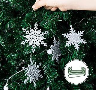 reversibili triangolari Syhood 4 bandane natalizie a forma di fiocco di neve a forma di fiocco di neve per animali domestici