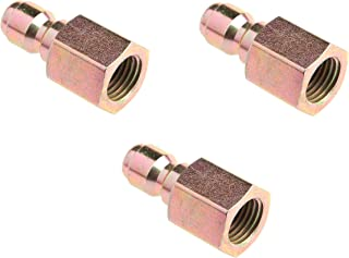 Forney 75135 Pressure Washer Accessories, Quick Coupler Plug, 1/4-Inch Female NPT, 5,500 PSI (3)