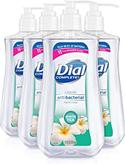 Dial Antibacterial liquid hand soap, white tea, 11 ounce (Pack of 4), 4 Count