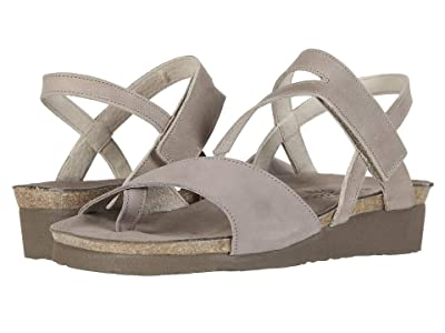Naot Blaire (Stone Nubuck/Khaki Beige Leather) Women