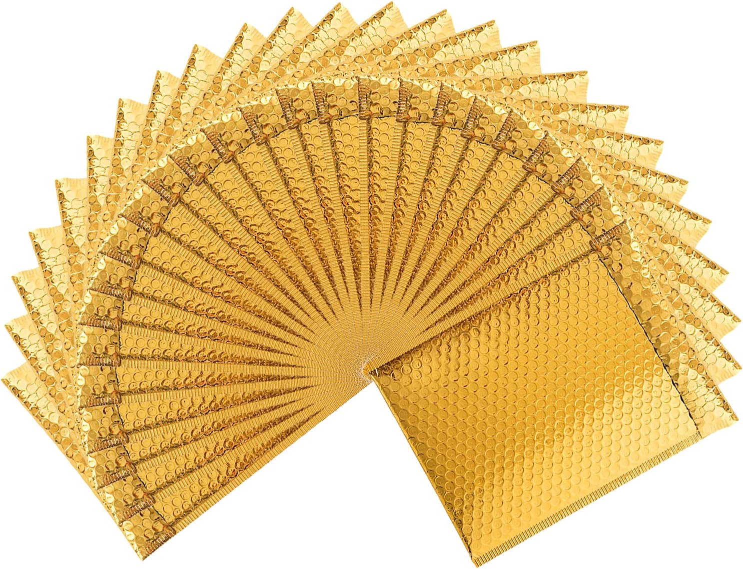 Pack of 25 Gold Cushion envelopes Bubble mailers 7.25 x 11 Padded envelopes 7 14 x 11 Exterior Size 8x11 Shipping mailers.