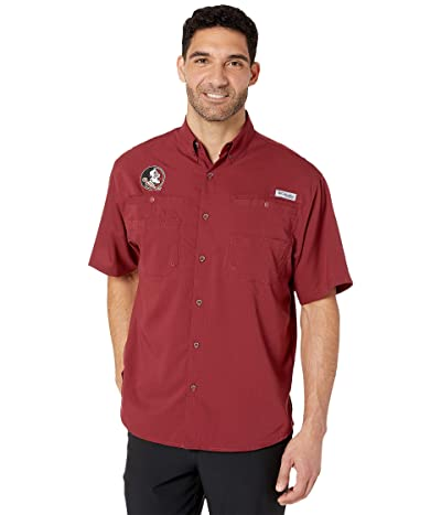 Columbia College Florida State Seminoles Collegiate Tamiamitm II Short Sleeve Shirt (Cabernet) Men