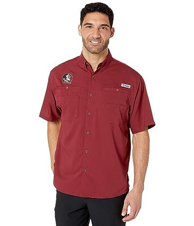 Columbia College Florida State Seminoles Collegiate Tamiami II Short Sleeve Shirt (Cabernet) Men