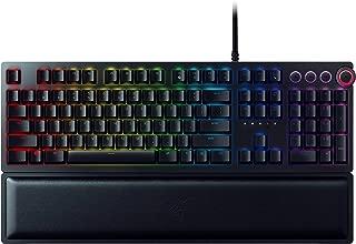 RAZER HUNTSMAN ELITE: Opto-Mechanical Switch - Multi-Functional Digital Dial & Media Keys - Leatherette Wrist Rest - 4-Side Underglow - Gaming Keyboard (Renewed)