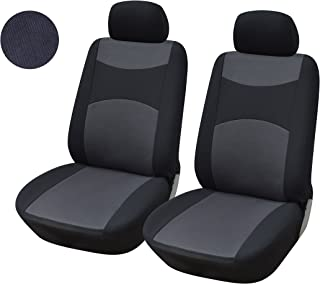 116001 Black-Fabric 2 Front Car Seat Covers for Transit Connect 2020 2019 2018-2007