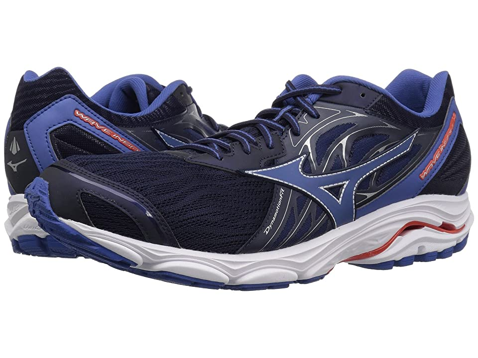 Mizuno Wave Inspire 14 (Evening Blue/Cherry Tomato) Boys Shoes