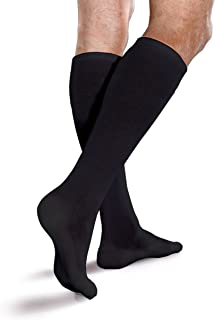 22424e7cc7 Core-Spun Cushioned 15-20mmHg Mild Graduated Compression Support Knee High  Socks (Black