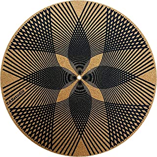 Taz Studio: Premium Turntable Slipmat Proves Sound Quality with Better Grip - Psychedelic Art- Specially Designed Cork Geo...
