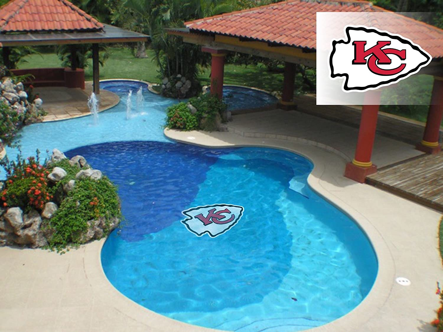 Applied Icon NFL Kansas City A surprise price is realized Chiefs Ma Graphic Logo Pool Primary Courier shipping free shipping