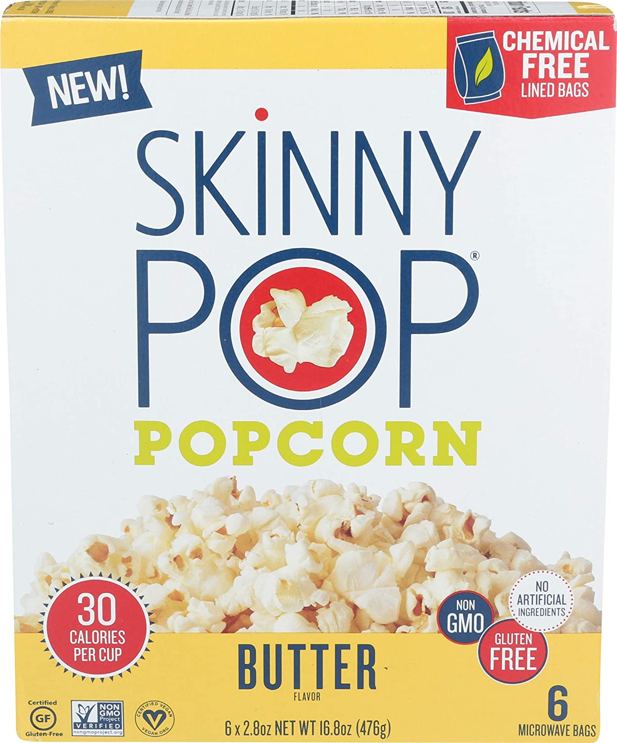 SKINNY Dealing full price reduction POP Butter Daily bargain sale Microwave 16.8 OZ Popcorn