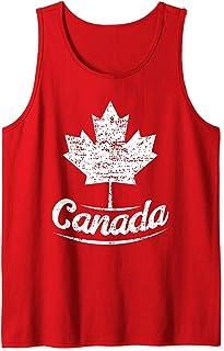 Vintage Canada Retro Drapeau canadien Feuille d'érable Débardeur
