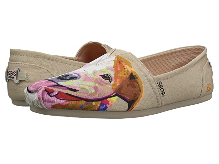 BOBS from SKECHERS  Bobs Plush - Pitty Love (Natural) Womens Flat Shoes