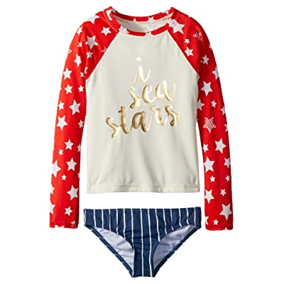 Billabong Kids Seein Stars Rashguard Set (Little Kids/Big Kids) (Multi) Girl