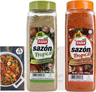 Badia Sazon Tropical Bundle - (2 Pack) W/ Premium Penguin Recipe Card
