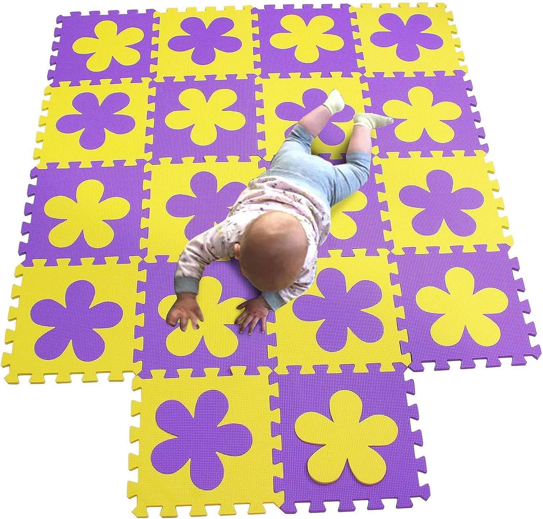YFQ Krabbeldecke Baby Puzzlematte Kinderteppich Yogamatte Schaumstoffmatte Fitnessmatte Babyspielmatte (color   A)