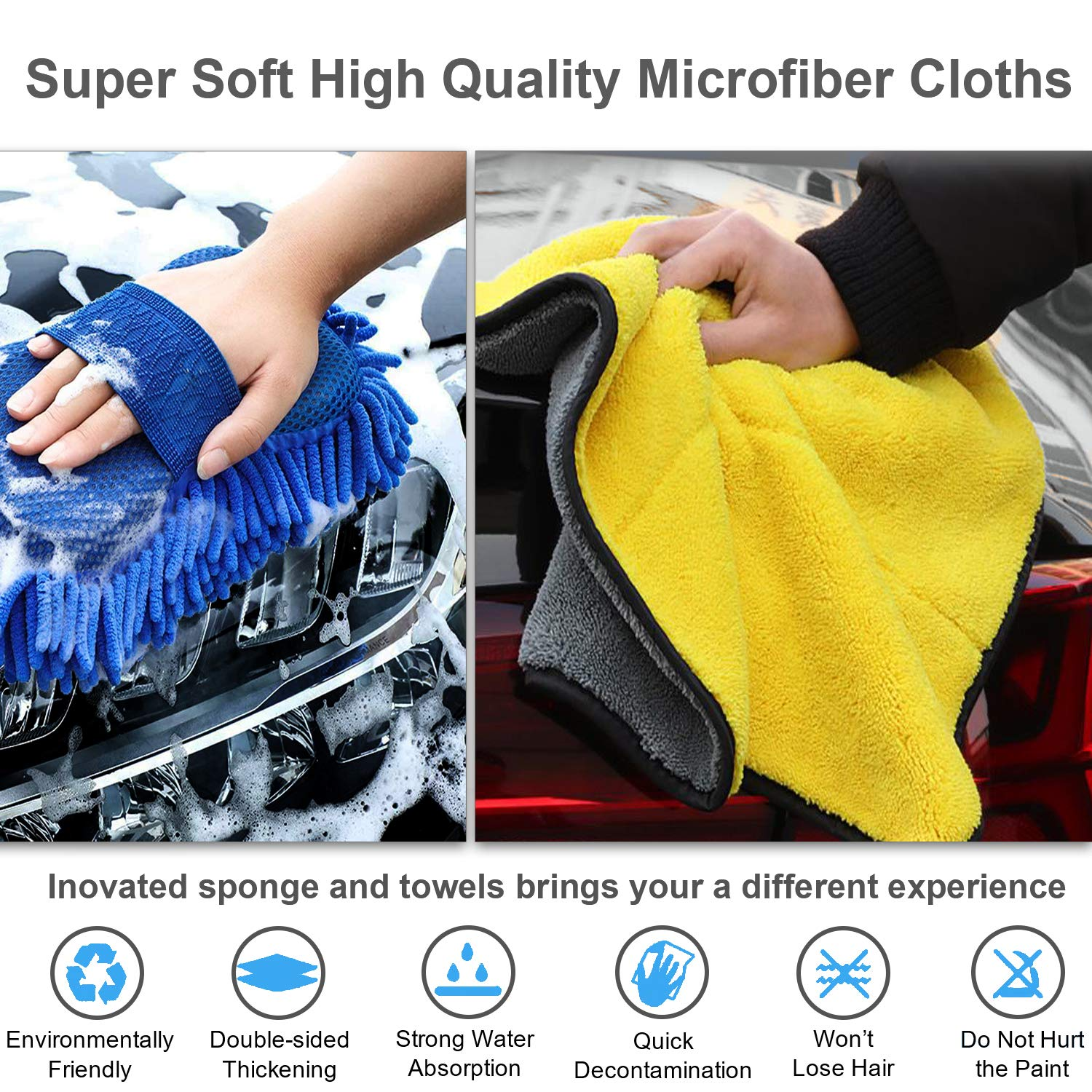 Car Wash Cotton Strong Water Absorption Sponge Cleaning Wipe Decontamination