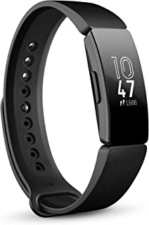 Fitbit Inspire Health & Fitness Tracker with Auto-Exercise Recognition, 5 Day Battery, Sleep & Swim Tracking, Black/Black