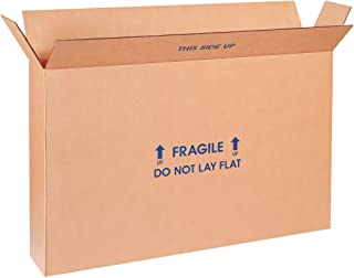 """Boxes Fast BF22616FPFOL Flat Screen TV Cardboard Moving and Shipping Box, Fits 19-22"""", Kraft (Pack of 5)"""