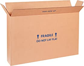 """Boxes Fast BF28620FPFOL Flat Screen TV Cardboard Moving and Shipping Box, Fits 23-26"""", Kraft (Pack of 5)"""