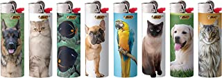 BIC Special Edition Animal Lovers Series Lighters, Set of 8 Lighters