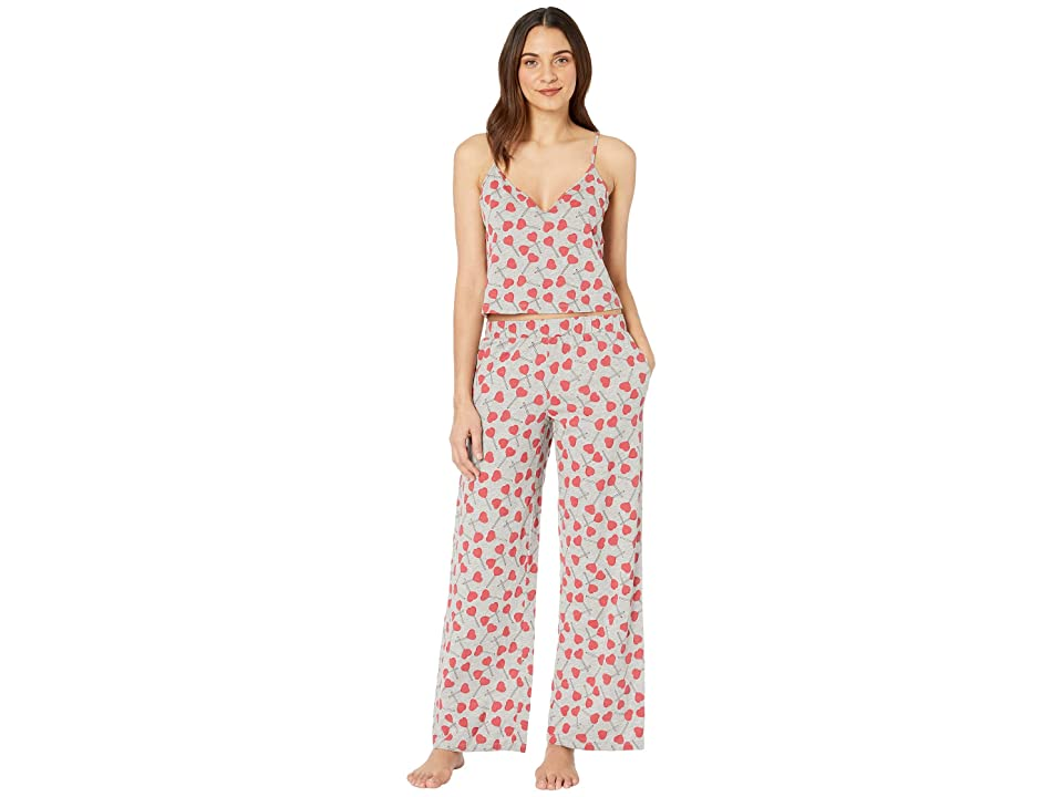 Cosabella Charming Pima Cotton Cami PJ Set (Heart Pops) Women