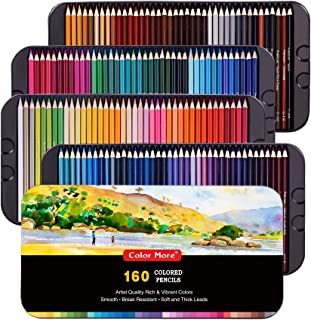 160 Colored Pencils Set,Artist Pencils Set for Coloring Books,Ideal for Coloring and Drawing,Shading&Sketching,Coloring Pencils for Beginners& Pro Artists in Tin Box,Drawing Pencils,Artist Pencils