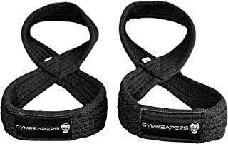 Gymreapers Figure 8 Lifting Straps for Deadlift,  Powerlifting,  Strongman,  Cross Training Strong Weightlifting Wrist Straps for Men,  Women