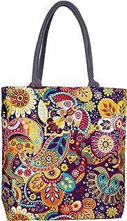 Sangra Fashion Women's Tote Bag (PAISLEY_Multicolored)