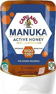 Capilano 100% Australian Manuka Active Honey MGO 100+, Naturally Bioactive NON GMO Manuka Honey, 12 Ounce (340 Grams) Upsi...