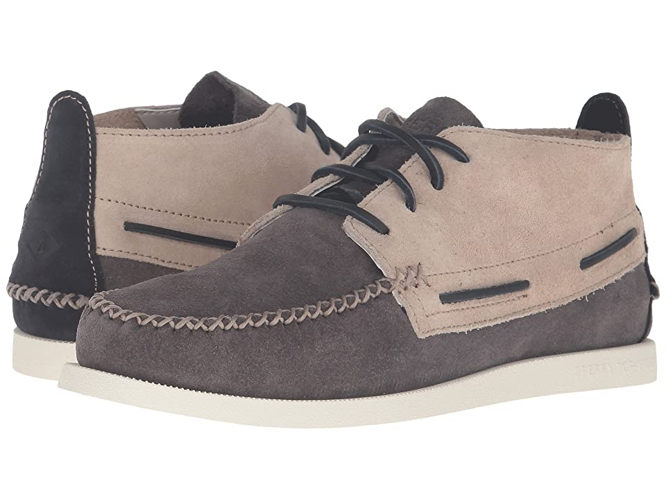 Sperry A/O Wedge Chukka Suede (Grey/White) Men