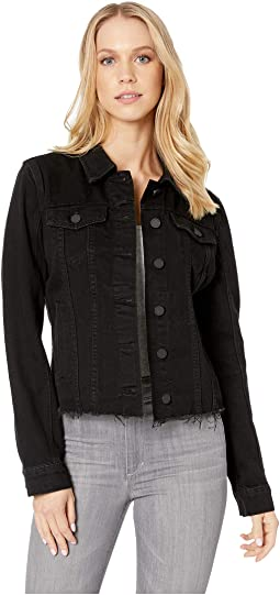 Black Denim Jacket in Ghosted
