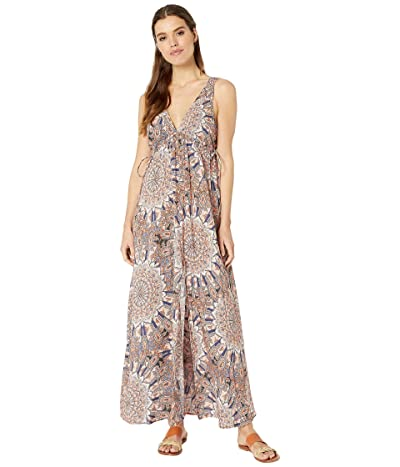 Luli Fama La Reina Del Sur Crystalized V-Neck Long Dress Cover-Up (Multicolor) Women