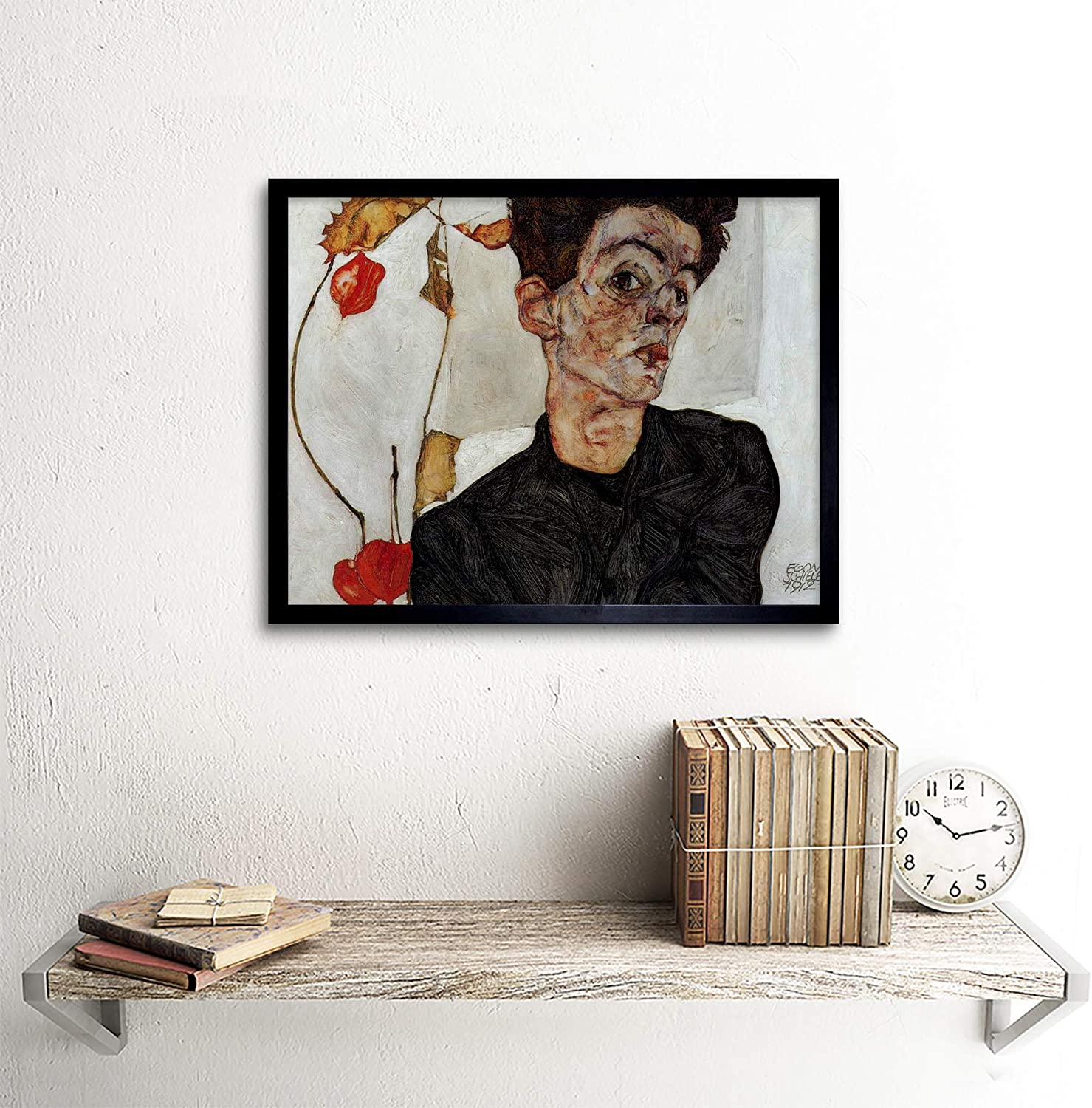 EGON SCHIELE SELF PORTRAIT WITH LOWERED HEAD OLD MASTER PAINTING PRINT 834OMLV