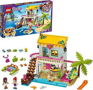 LEGO Friends Beach House 41428 building set with Andrea and Mia mini-dolls and DJ Booth, Toy for Kids 6+ years (444 pieces)