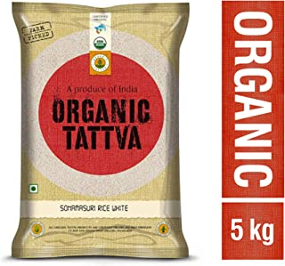 Organic Tattva Sona Masuri Rice White Polished, 5kg