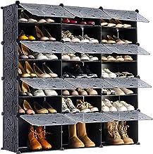 منظم منظم منظم لرف الأحذية المحمول من يودينوفا، 48 زوجًا من خزائن تخزين أرفف البرج، خزانة وحدات لتوفير المساحة، قابلة للتو...