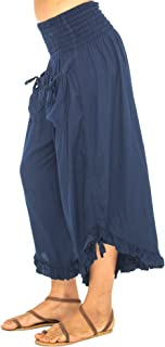 ruffle gaucho pants