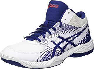 Asics Gel-task Mt, Men's Volleyball Shoes, White (White/Blue Print 100), 9.5 UK (44.5 EU)