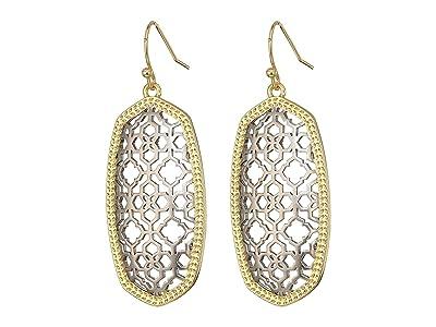Kendra Scott Elle Earring (Gold/Rhodium Filigree Mix) Earring