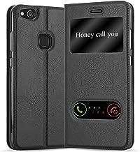 Cadorabo Custodia Libro per Huawei P10 Lite in Nero COMETA – con Funzione Stand e Chiusura Magnetica – Portafoglio Cover Case Wallet Book Etui Protezione