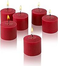 شموع معطرة برائحة القرفة الحمراء - مجموعة من 12 شمعة معطرة - وقت احتراق 10 ساعات - صنع في الولايات المتحدة الأمريكية