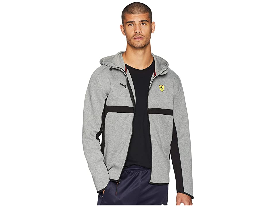 PUMA SF Hooded Sweat Jacket (Medium Gray Heather) Men