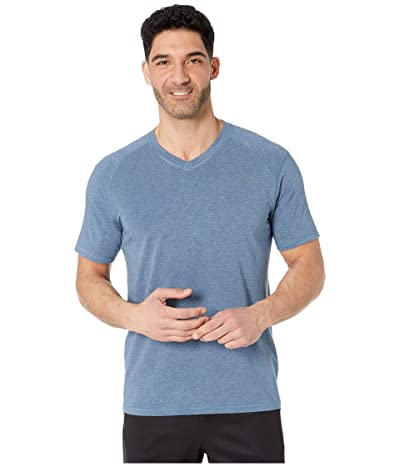 tasc Performance Carrollton V-Neck Tee (Indigo Heather) Men