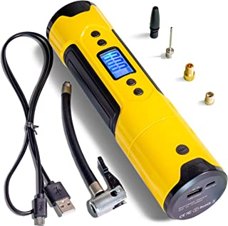 Portable Air Pump Mini Wireless Electric Compressor - Wheel Blower - USB Fast Rechargeable With LED Flashlight And Smartph...