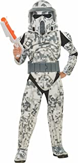 Rubies Star Wars Clone Wars Child's Deluxe Arf Trooper Costume and Mask, Medium