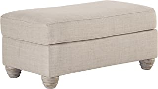 Benchcraft - Traemore Casual Upholstered Ottoman and Footrest - Linen
