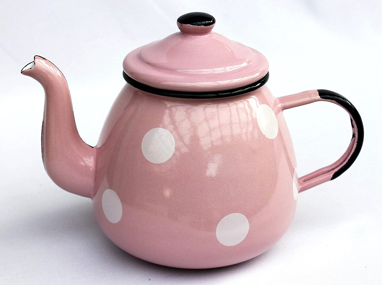 DanDiBo Teekanne 582AB Rosa mit weißen Punkten Punkten Punkten 0,75 L emailliert 14cm Wasserkanne Kanne Kaffeekanne B01J8CSXJA - 7d41d9